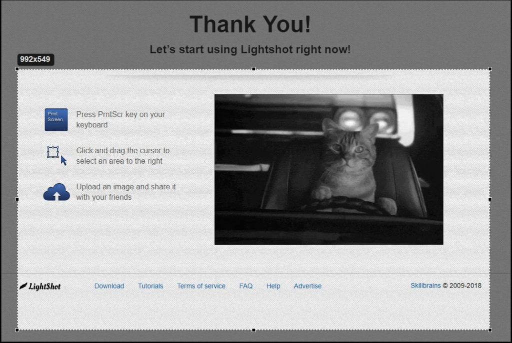 Lightshot Select Screen Area to Screenshot