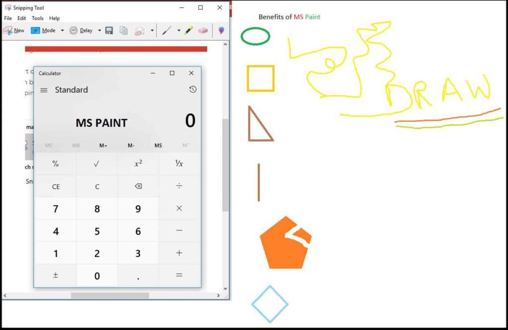 MS Paint Tool benefits