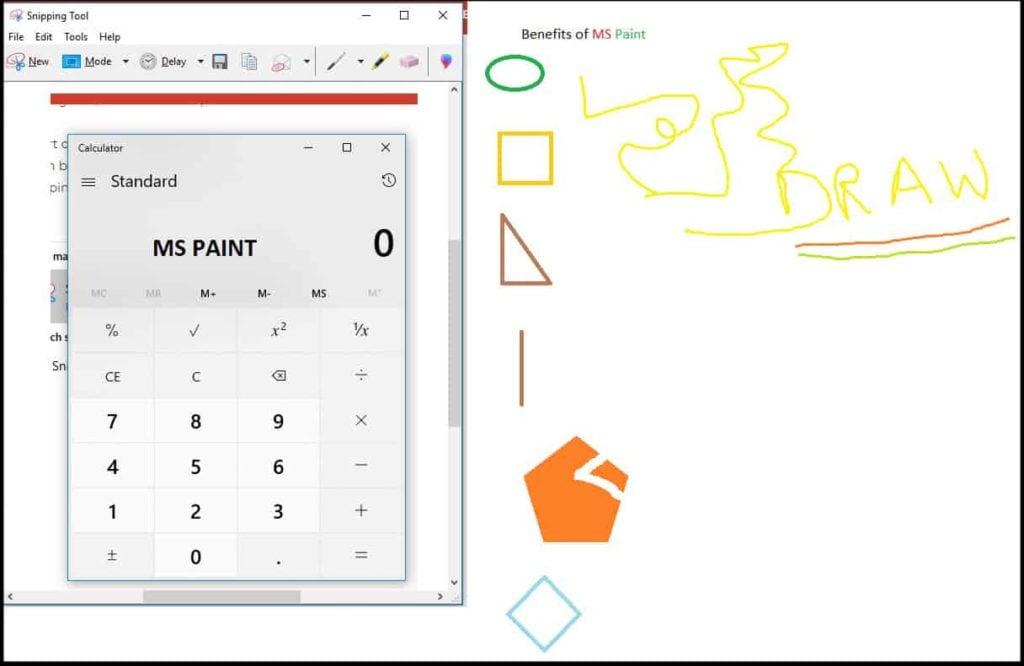 MS Paint Tool benefits