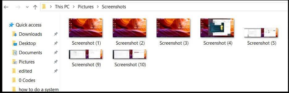 Microsoft Windows Screenshots Folder