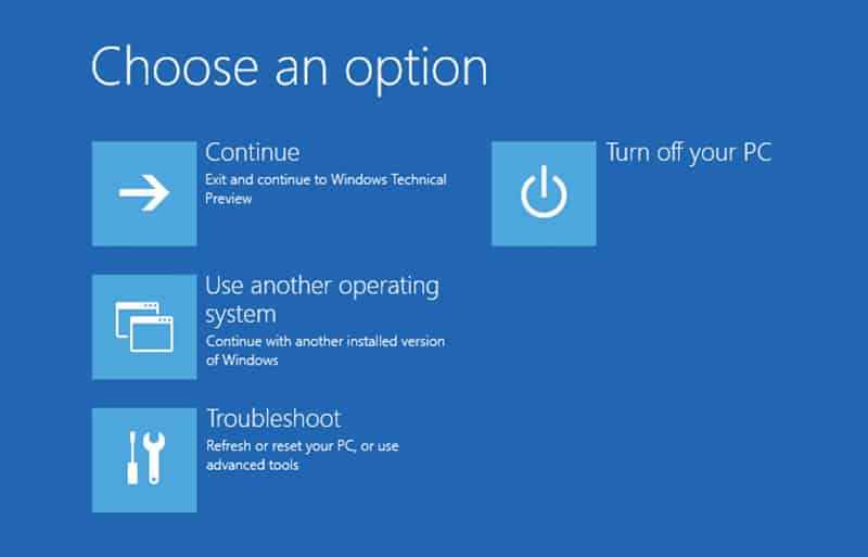 Windows 10 Recovery Troubleshoot