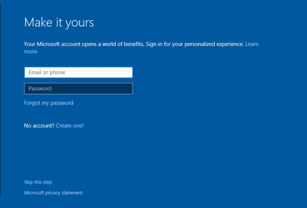 Windows 10 Reset Personalized Sign In Microsoft Account