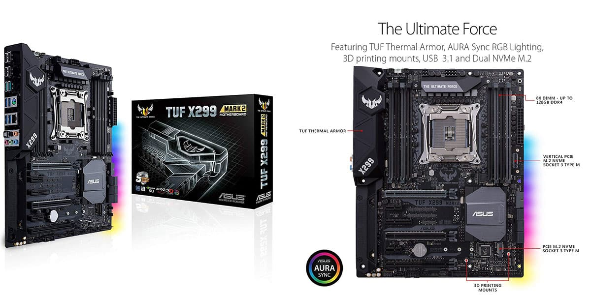 Best X299 Motherboard (Intel) – ASUS TUF X299 Mark 2