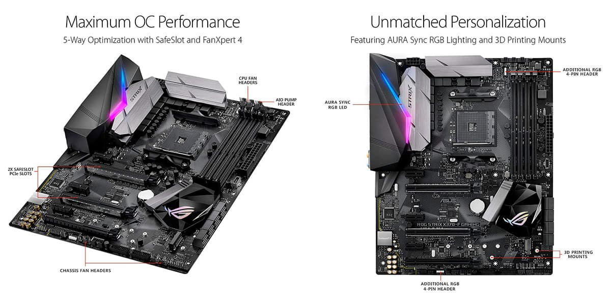 Best X370 Motherboard (AMD) – ASUS ROG Strix 370-F Gaming