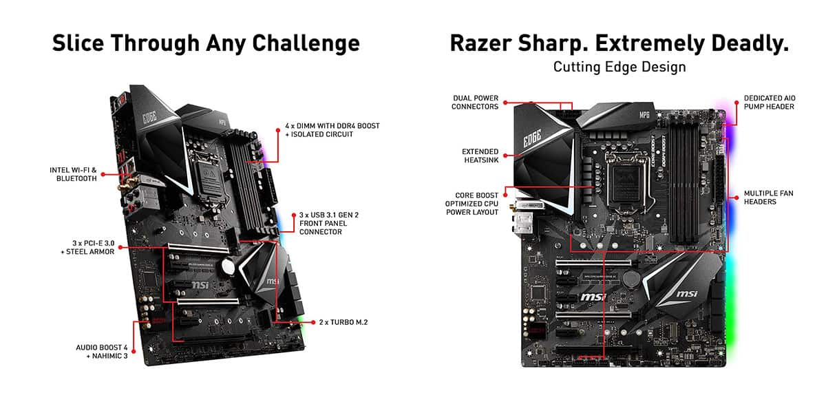 Best Z390 Motherboard (Intel) – MSI Z390 MPG Edge AC