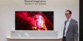 LG 65 inch Rollable OLED TV 2019