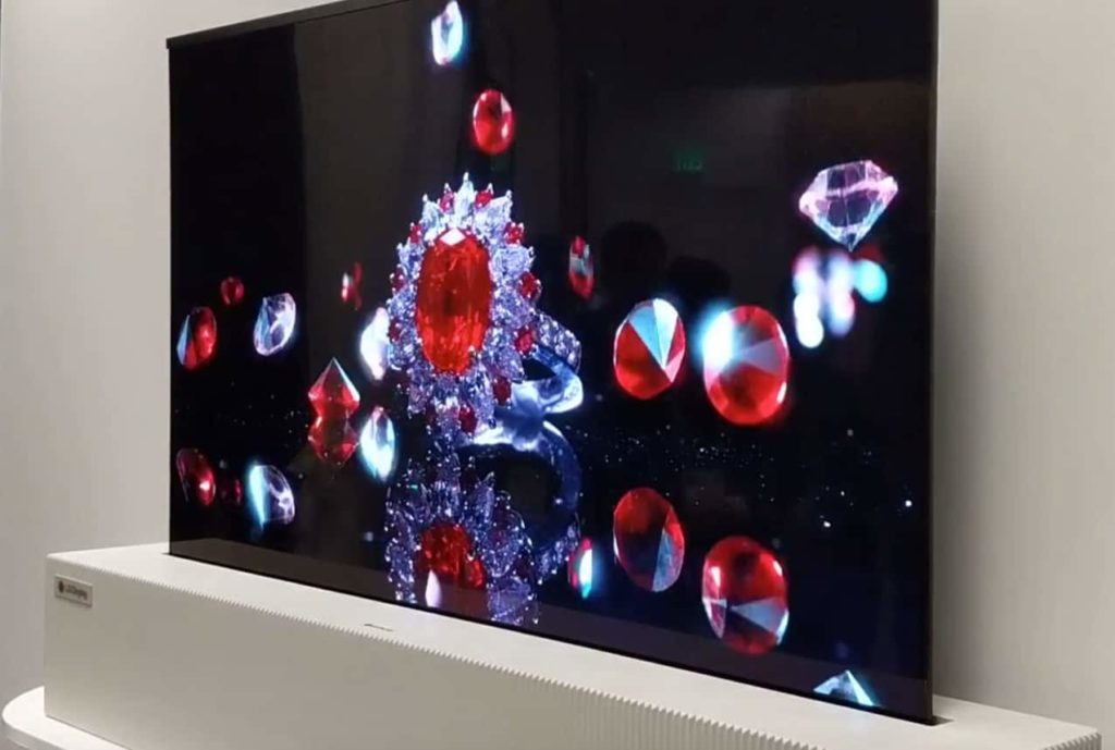 LG Rollable OLED TV CES