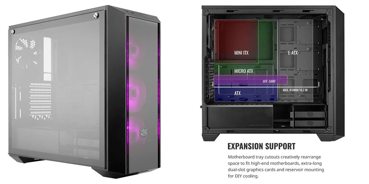 MasterBox Pro 5 RGB  Best Gaming PC Mid Tower Case