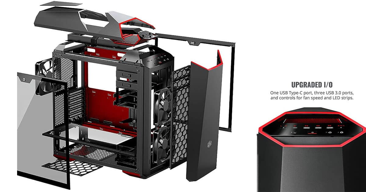 Best portable pc case for vr - MasterCase MC500Mt