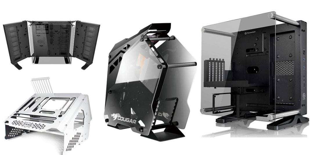 keep your pc cool with these open air pc cases