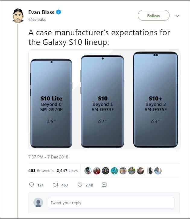 Samsung Galaxy S10 Twitter