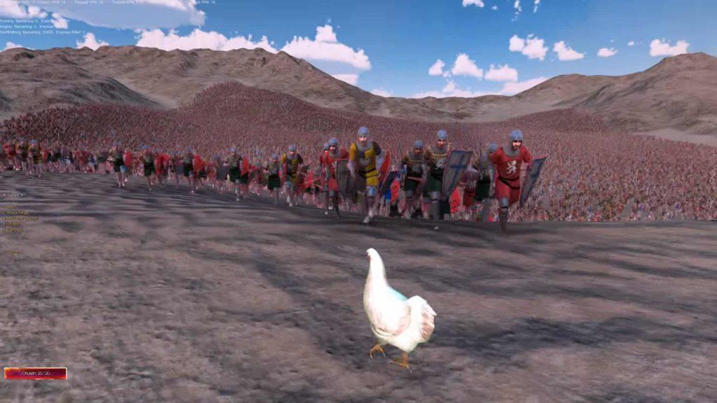 Ultimate Epic Battle Simulator Chicken Vs. Roman Soldiers