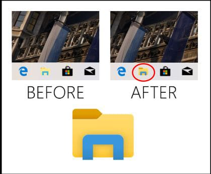 Windows 10 Build 18298 File Explorer Icon Light Theme
