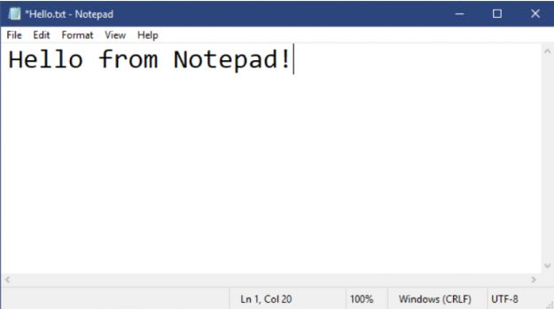 Windows 10 Build 18298 Notepad Improvements