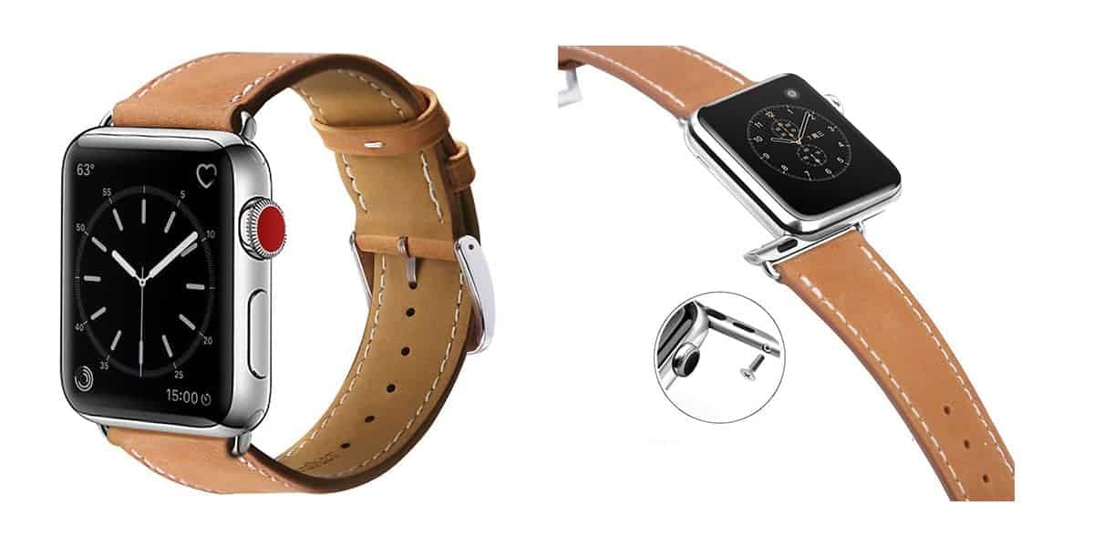 Marge Plus's leather band for the Apple Watch