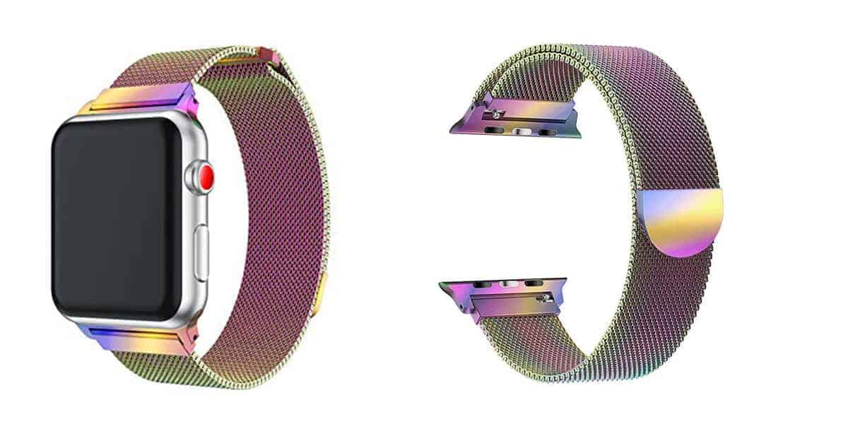 Ouiledi's Stainless Steel Mesh band for the Apple Watch