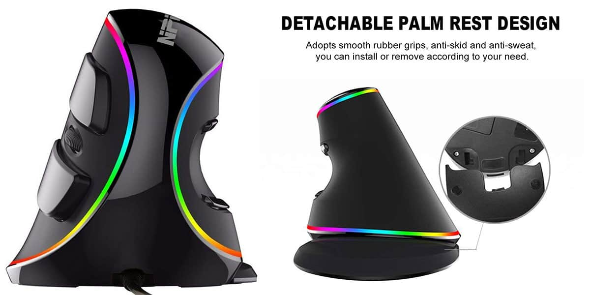 NPET V20 Ergonomic Vertical mouse: Best Ergonomic Gaming Mouse
