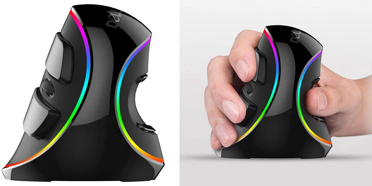Best Ergonomic Mice with RGB Lighting: Delux Ergonomic Vertical Mouse