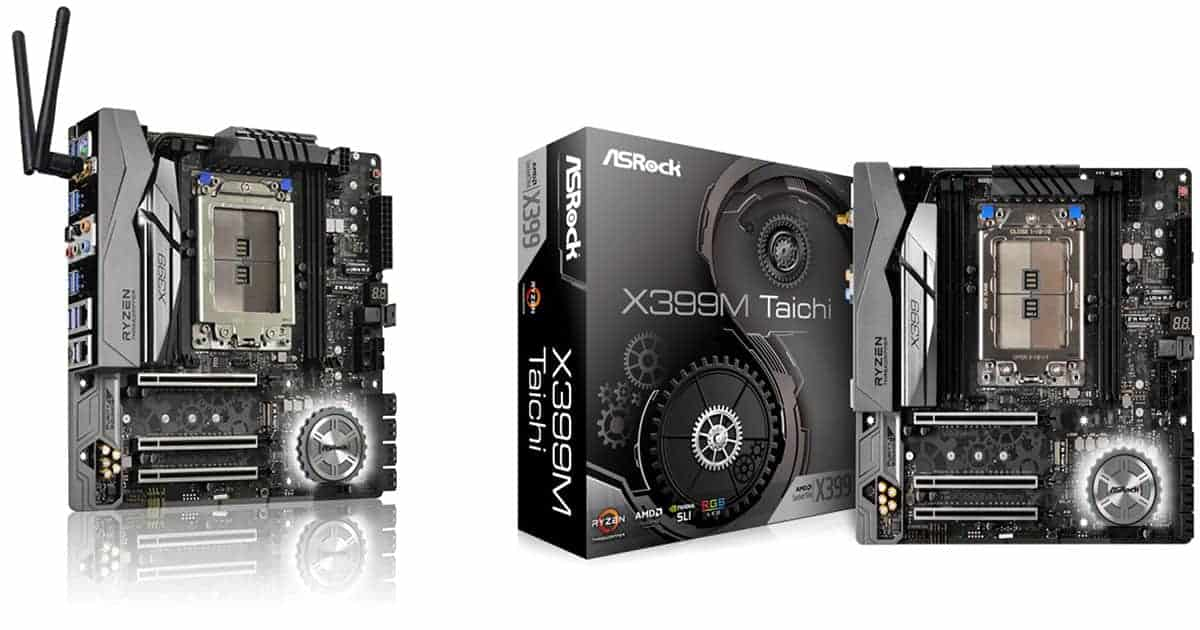 ASRock X399M Taichi – Best AMD Micro ATX Motherboard
