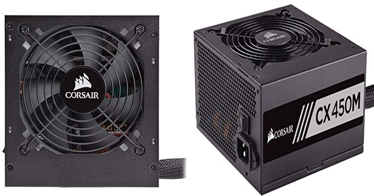 Corsair CX 450W 80+ Bronze-Certified Semi-Modular PSU