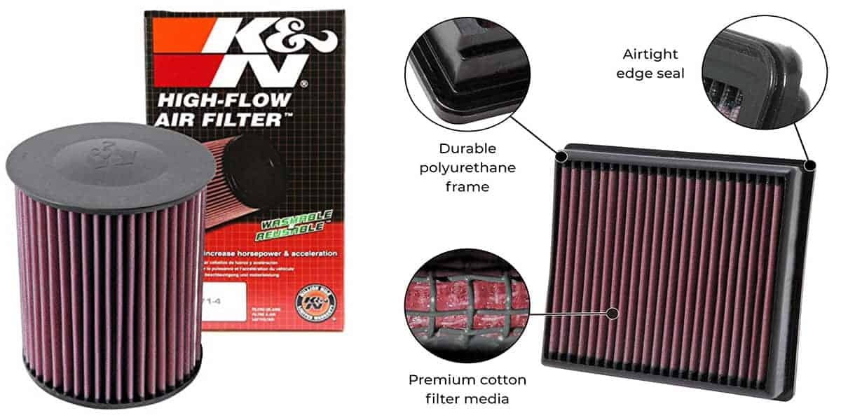 K&N Drop in Air Filter – Excellent Long Lasting Filter