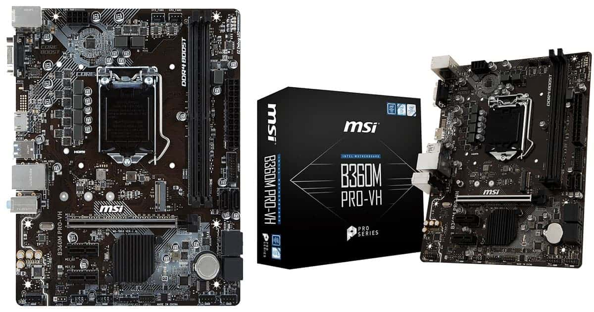MSI B360M PRO-VH – Best Budget Intel Motherboard