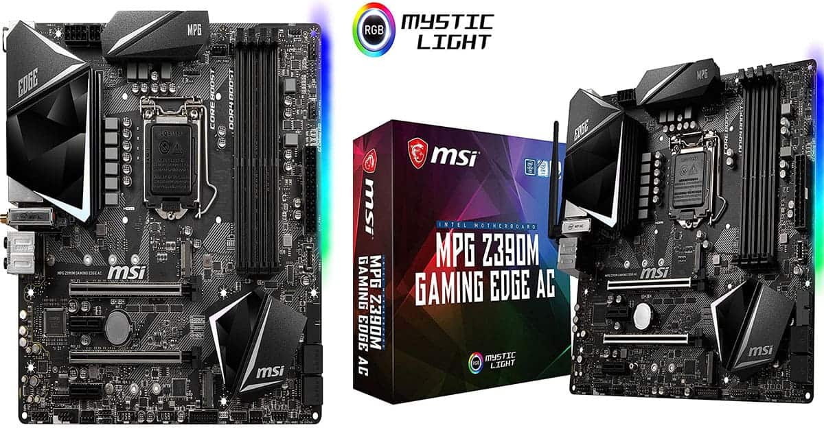 MSI MPG Z390M Gaming Edge – Best RGB Micro ATX Motherboard