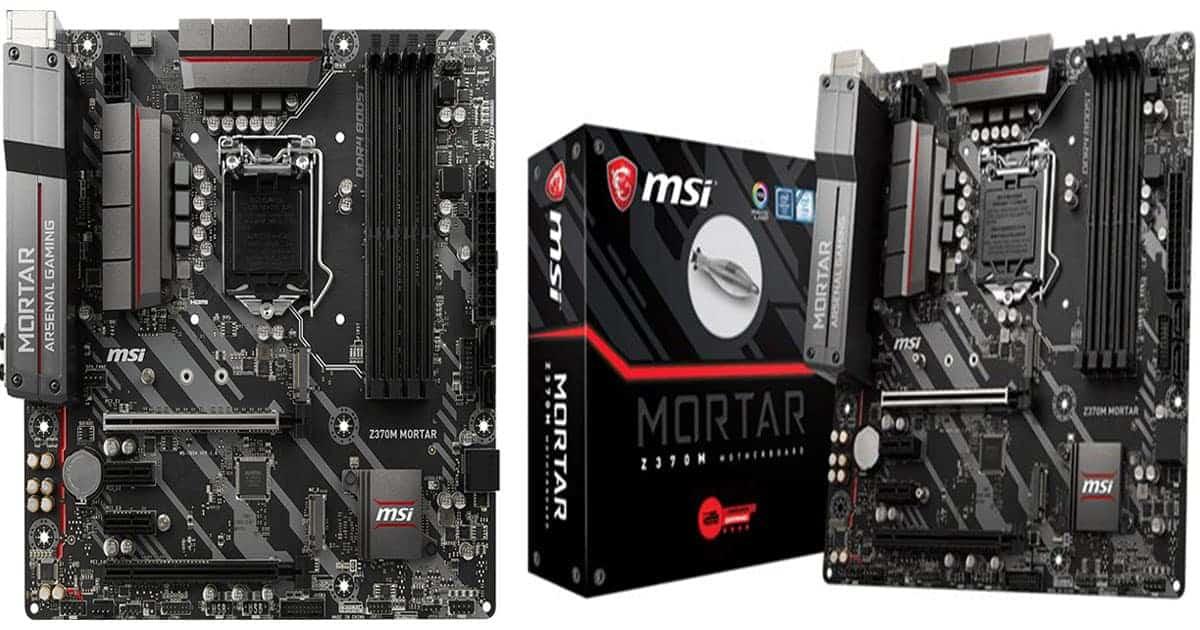 MSI Z370M Mortar – Best Gaming Micro ATX Motherboard