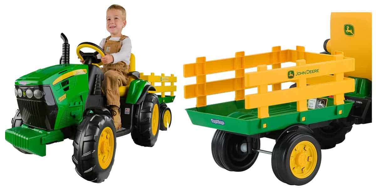 Peg Perego John Deere Farm Vehicle With Trailer