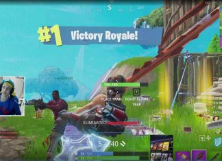 Ninja live streaming Fortnite