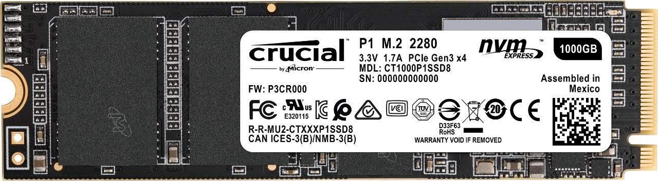 Crucial M.2 P1 1 TB