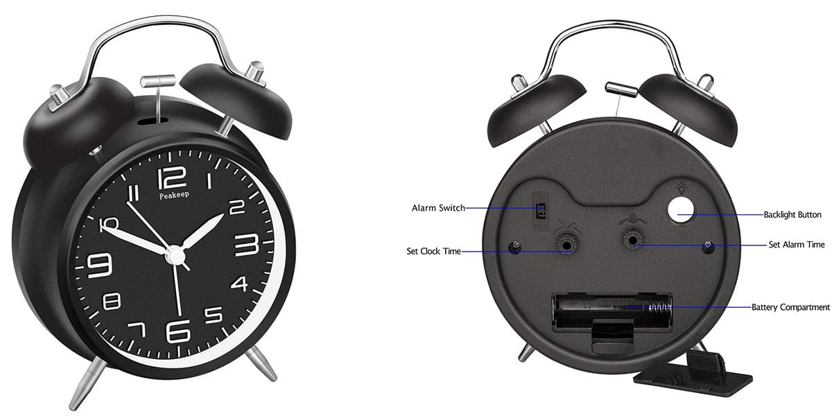 Peakeep Twin Bell Alarm Clock