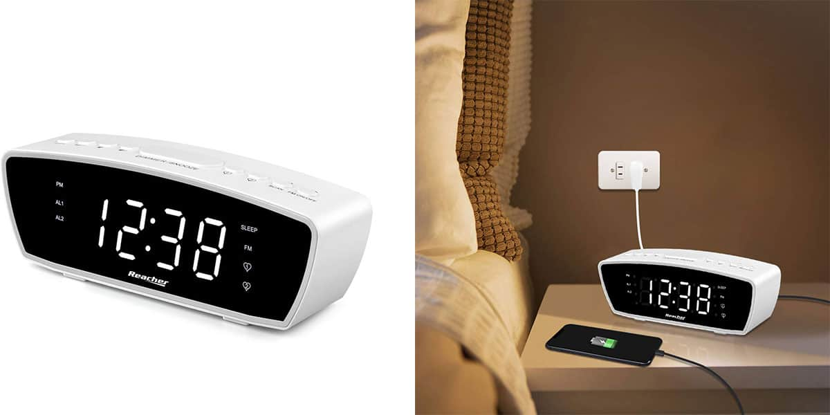 Reacher Modern Dual Alarm Clock