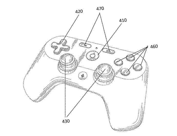 Google video-game controller patent