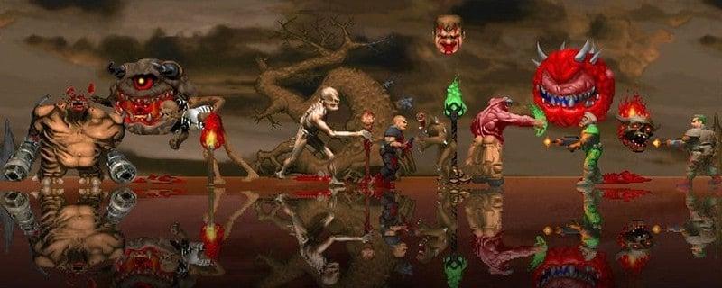 Doom with AI upscaled graphics