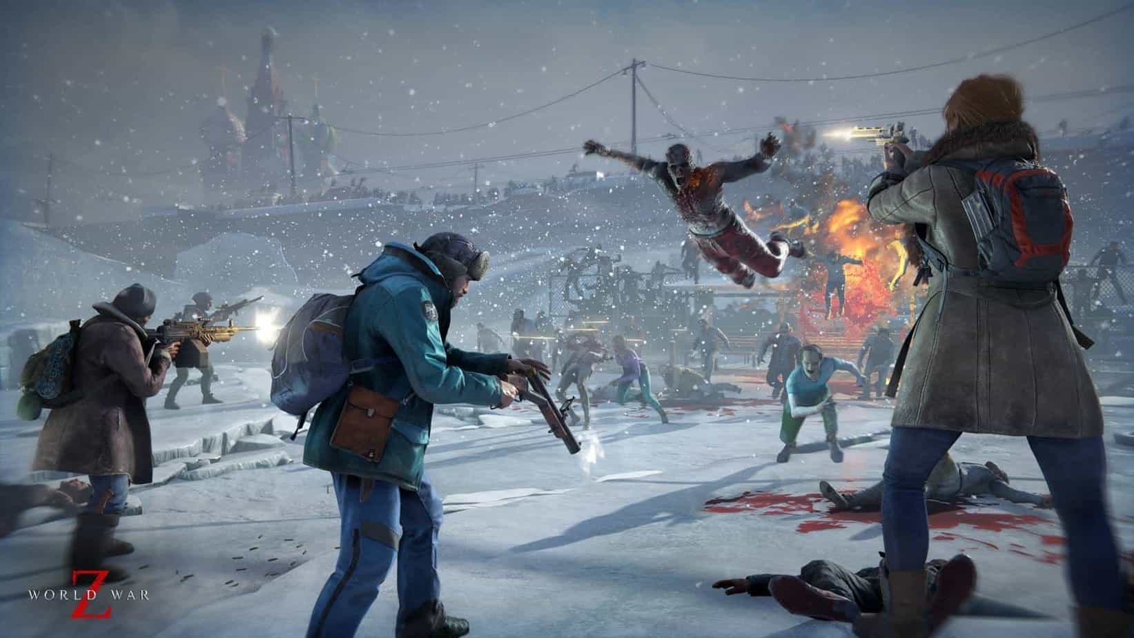 World War Z is a four-player co-op third person shooter within a zombie apocalypse