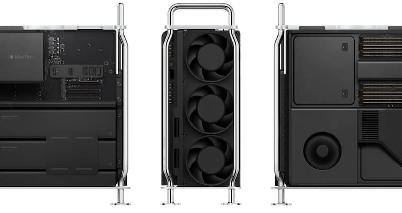 mac pro internal view with fan