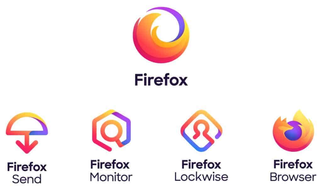 Last firefox family logos
