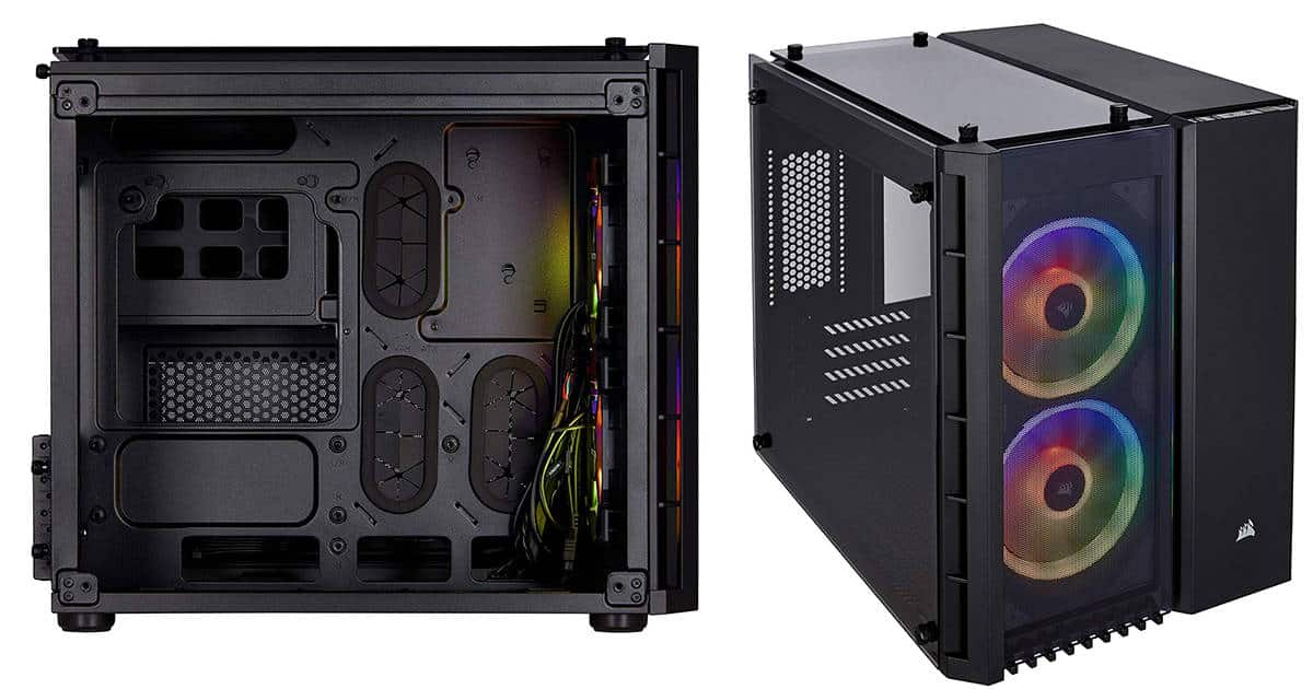 Corsair Crystal 280X RGB – Most Compact Mini Tower PC Case