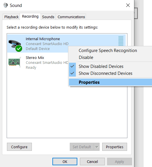increase mic volume windows10 3