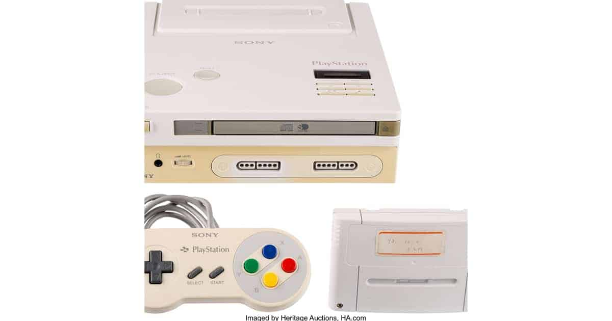 Nintendo PlayStation with components