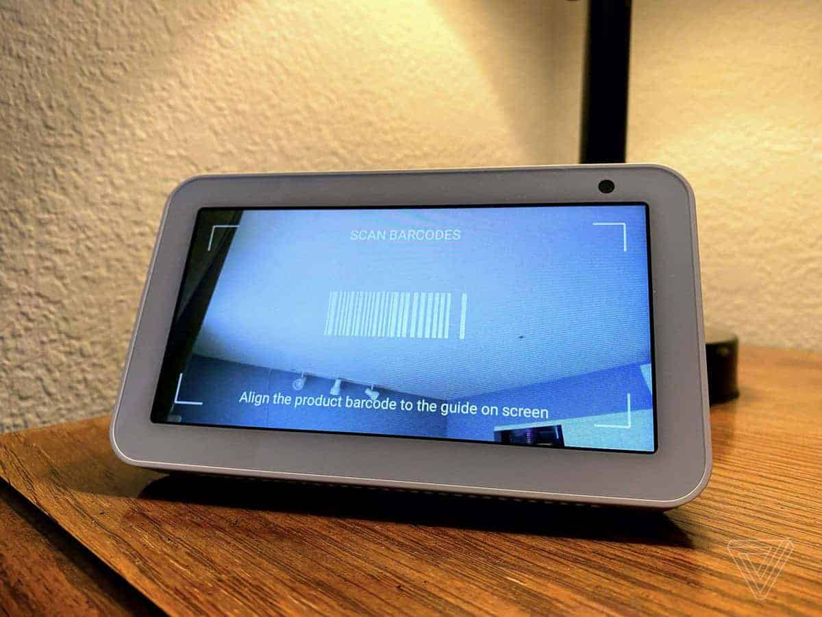 amazon echo show scan barcodes