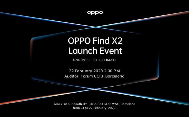 Oppo Find X2 Launch Event