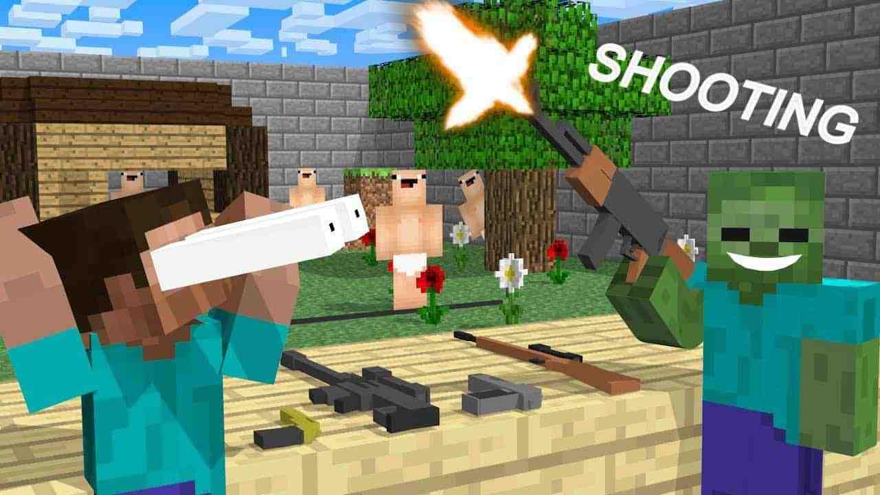 jeux de tir minecraft - Jeux de tir à la première personne