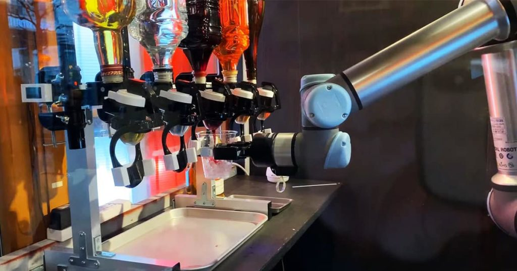 robot bartender serves drinks at japanese pub 2
