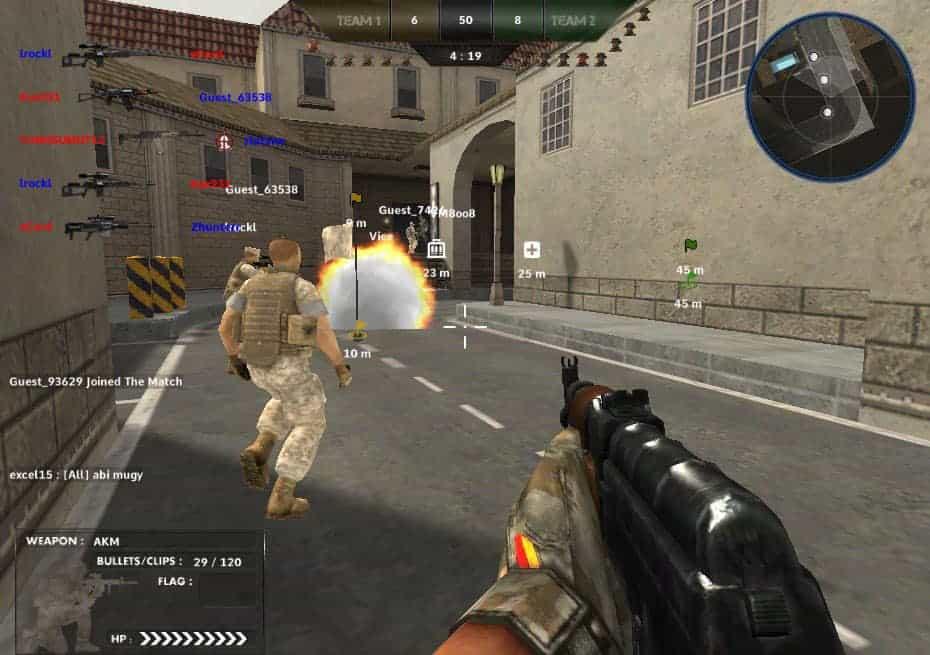 rush team game - Jeux de tir à la première personne