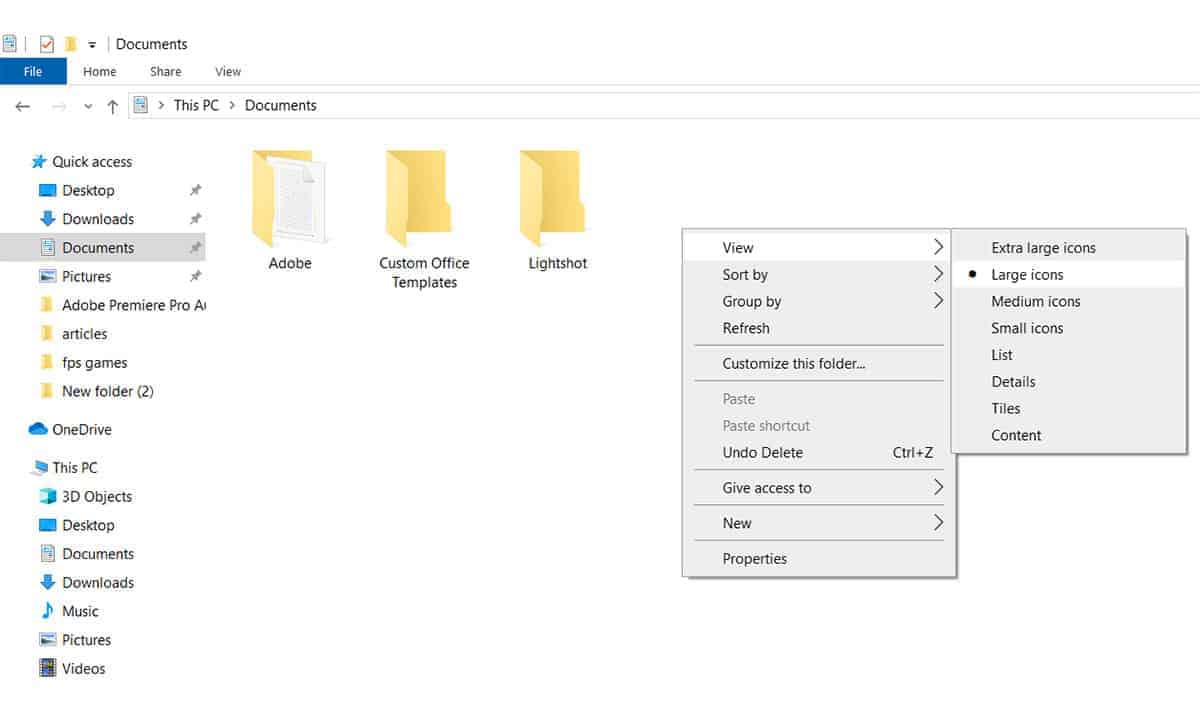bigger file icons how to change desktop icon size