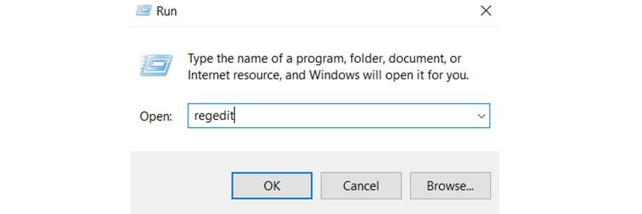 run regedit how to view hidden files in windows 10