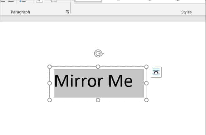 Mirror Text in Word steps 2 1