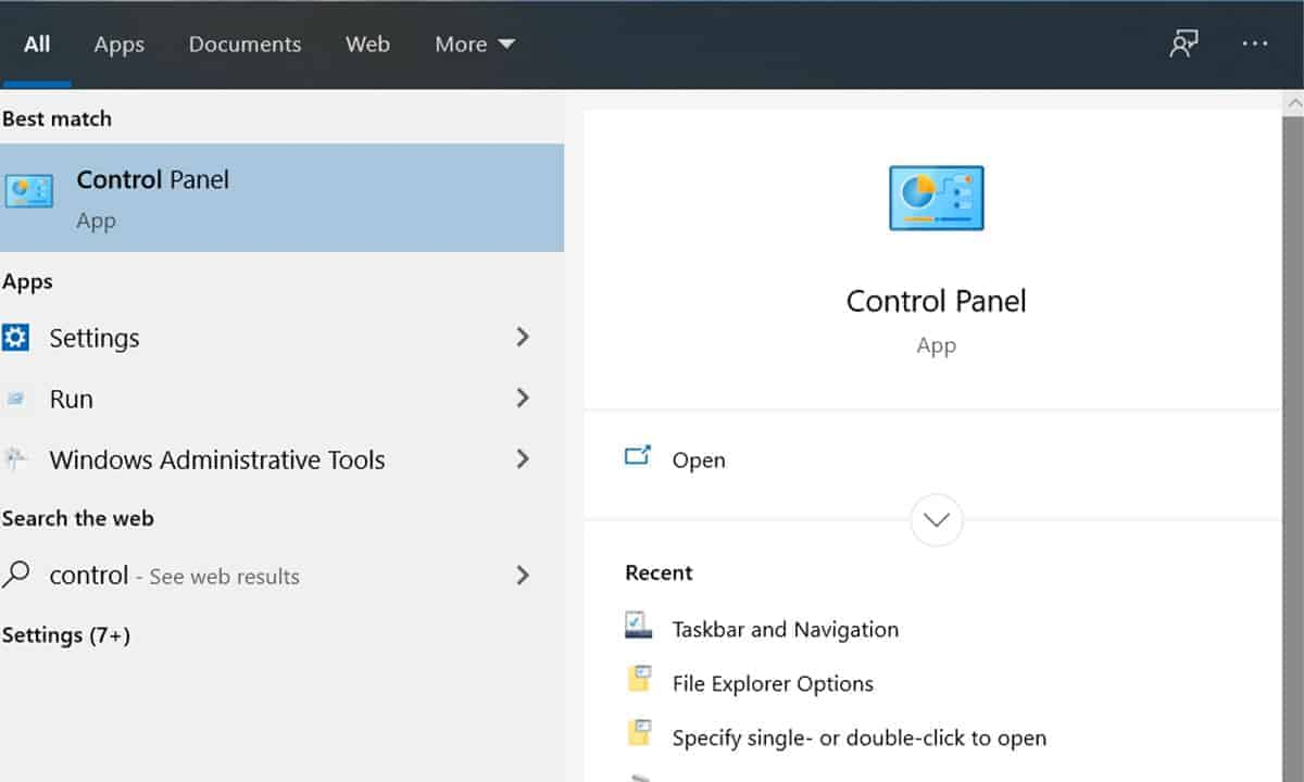 control panel how to check laptop resolution